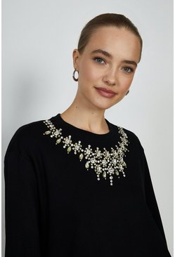 Black Jewelled Sweatshirt