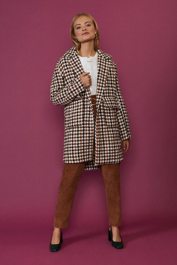 Multi Check Print Coat