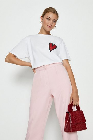 White You Stole My Heart Cropped  T-Shirt