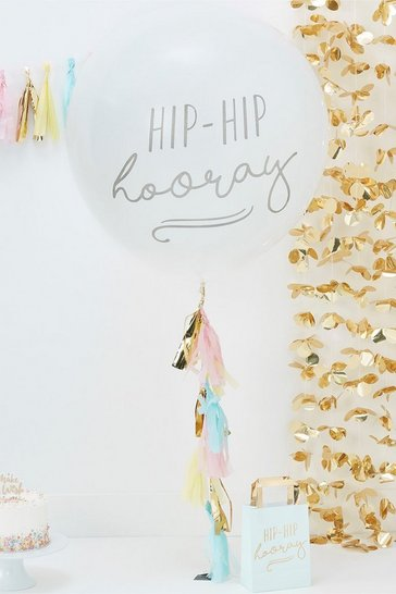 Multi Ginger Ray- Hip Hip Hooray Tassel Balloon