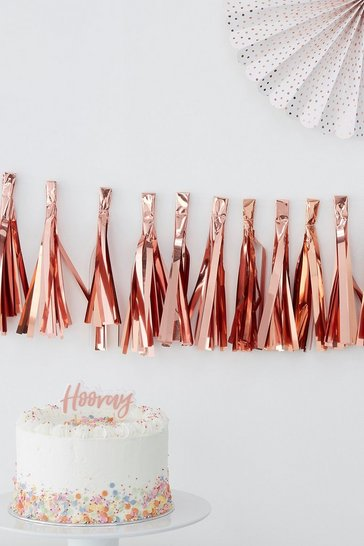Rose gold Ginger Ray-Tassel Bunting