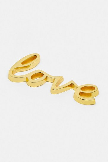 Gold Cast Word Love
