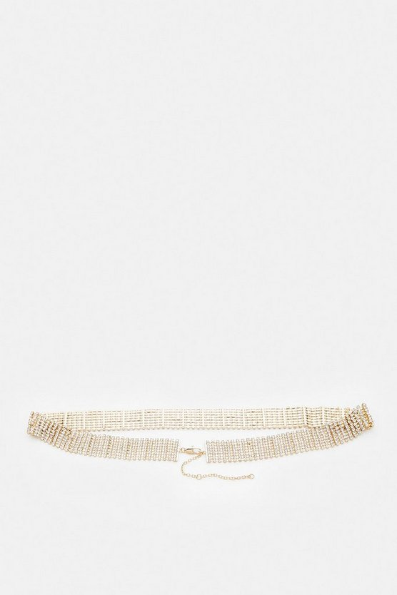 Gold Diamante Chain Belt