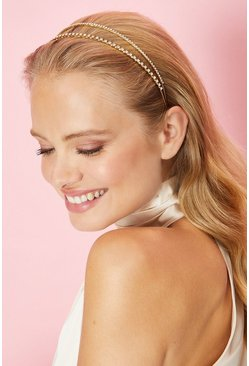 Gold Double Banded Metal Headband