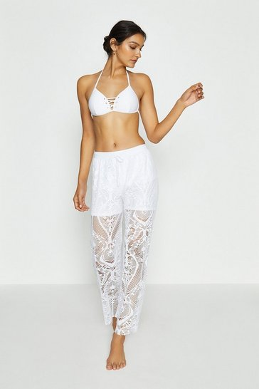Ivory Lace Beach Trouser