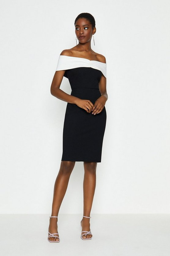 Black Bardot Shift Dress