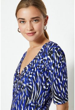 Animal V-Neck Printed Top
