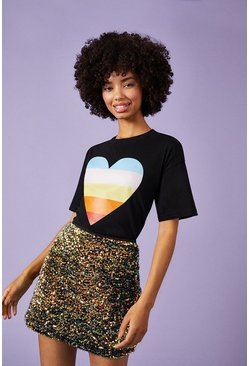 Black Love Wins Front Print T-Shirt