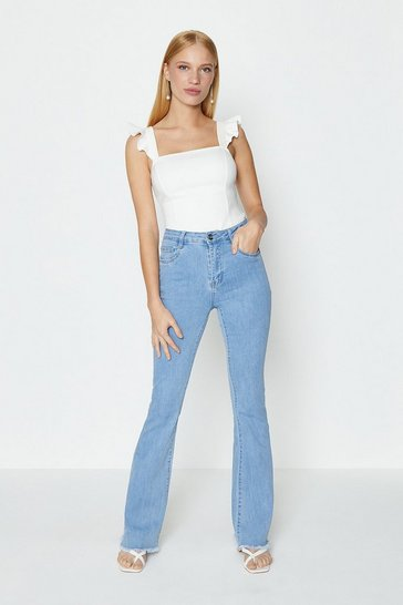 Blue Stretch Flare Jean