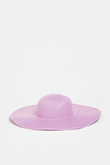 Lilac Coloured Straw Hat