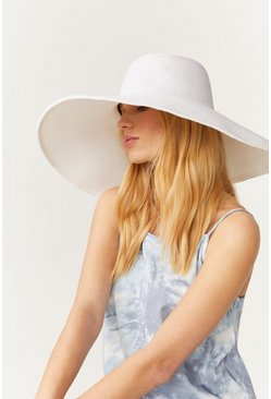 White Coloured Straw Hat