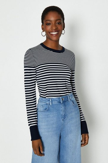 Mono Breton Turn-Up Cuff Jumper