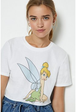 White Tinkerbell Cropped T-Shirt