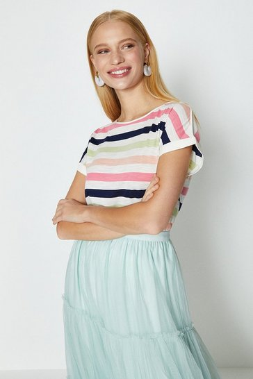 Ivory Rainbow Stripe T-Shirt
