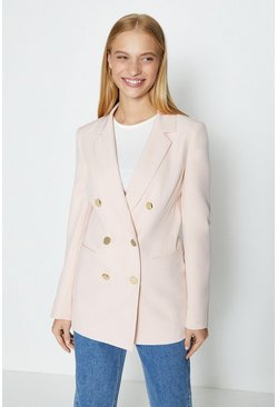 Pale pink DB Military Blazer
