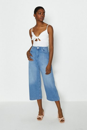 Blue Denim Crop Jean