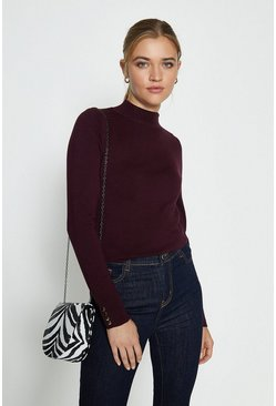 Fig Gold Popper Turtle Neck Jumper