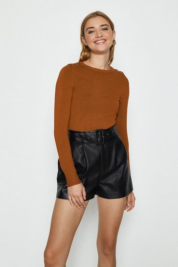 Cashew Trim Detail Knitted Jumper