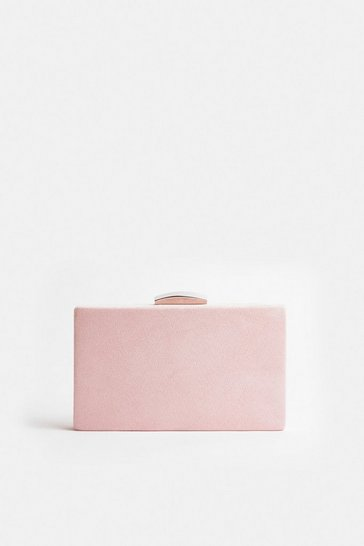 Blush Boxy Clutch Bag