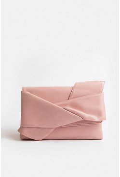 Blush Origami Clutch Bag