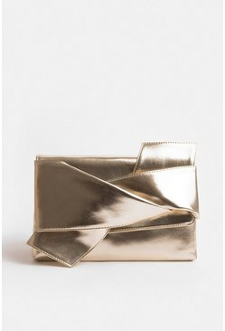 Gold Origami Clutch Bag