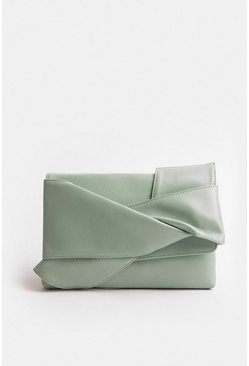 Mint Origami Clutch Bag