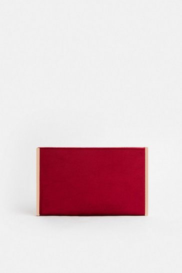 Red Boxy Clutch Bag