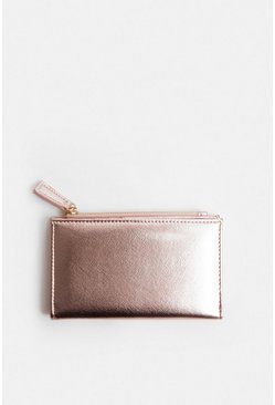 Rose gold Metallic Purse
