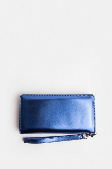 Blue High Shine Purse