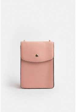 Pink Boxy Cross Body Bag
