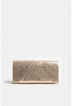Gold Detail Front Clutch Bag