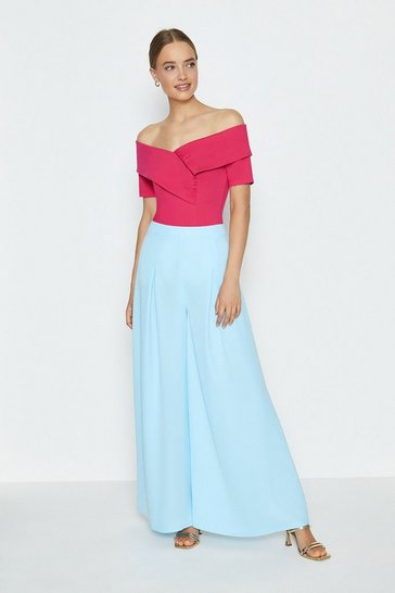 Blue Wide Leg Trouser
