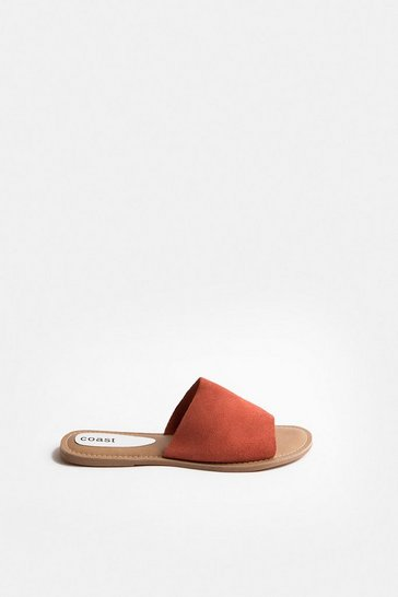 Orange Colour Pop Slide On Suede Sandal