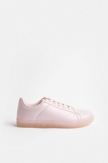 Pink Pearlised Trainer
