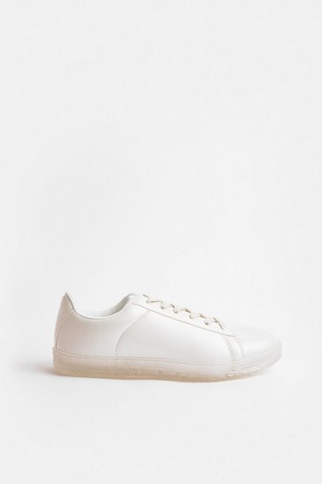 White Pearlised Trainer