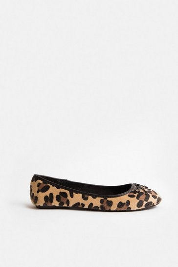 Natural Leopard Ballerina Pump
