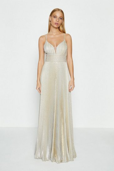 Gold Strap Detail Maxi Dress
