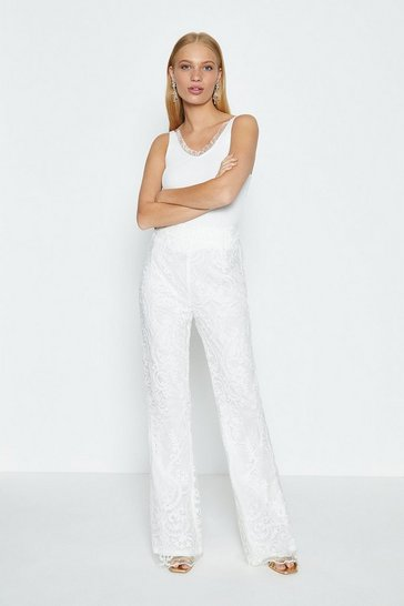 Ivory Lace Trouser