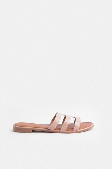 Blush Triple Strap Sandal