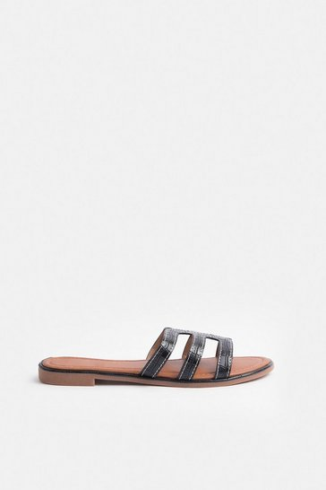 Tan Triple Strap Sandal