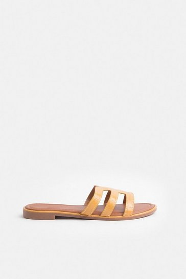 Yellow Triple Strap Sandal