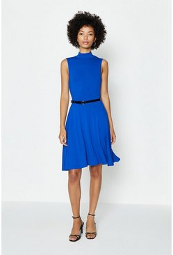 Cobalt Skater Skirt Dress