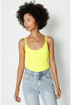 Yellow Two Strap Back Cami