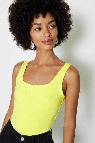 Yellow Square Neck Body