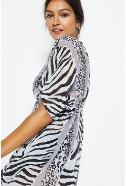 Mono Mix And Match Animal Print Kaftan