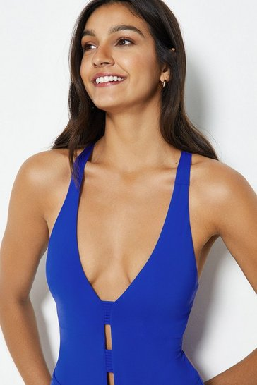 Cobalt Deep V Strappy Back Swimsuit