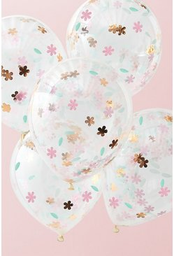 Pink Ginger Ray-Floral Confetti Balloons