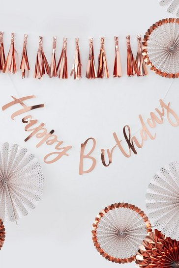 Rose gold Ginger Ray Backdrop Birthday Bunting