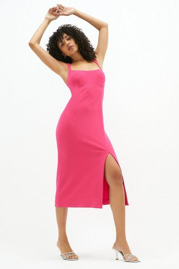 Bright pink Cami Midi Dress