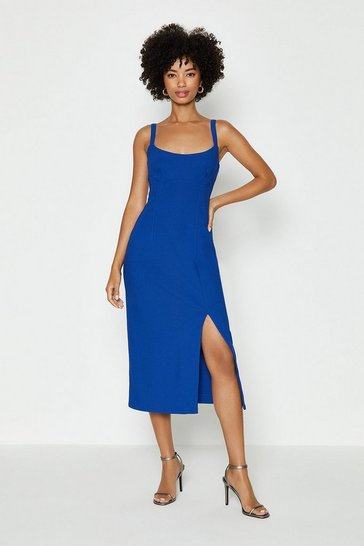 Cobalt Cami Midi Dress